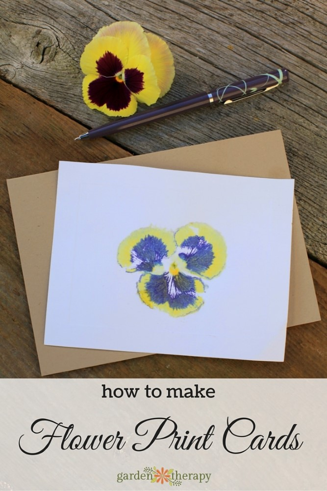How to Make Hammered Flower Print Cards
