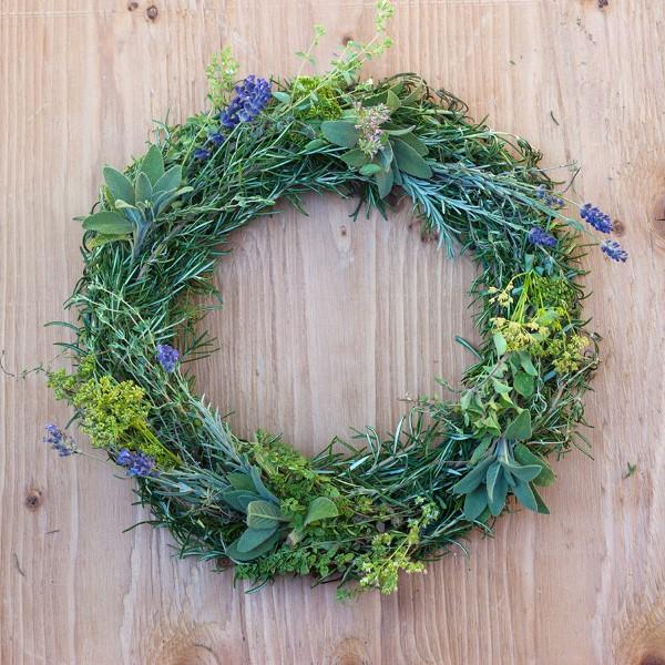 How to Make a Gorgeous Fresh Herb Wreath