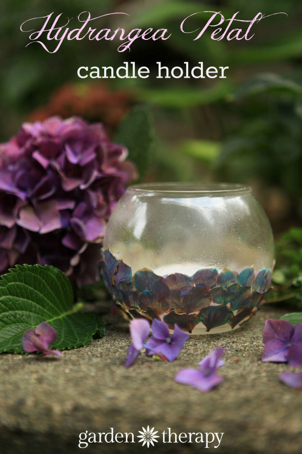 Hydrangea Petal Tealight Holder craft project