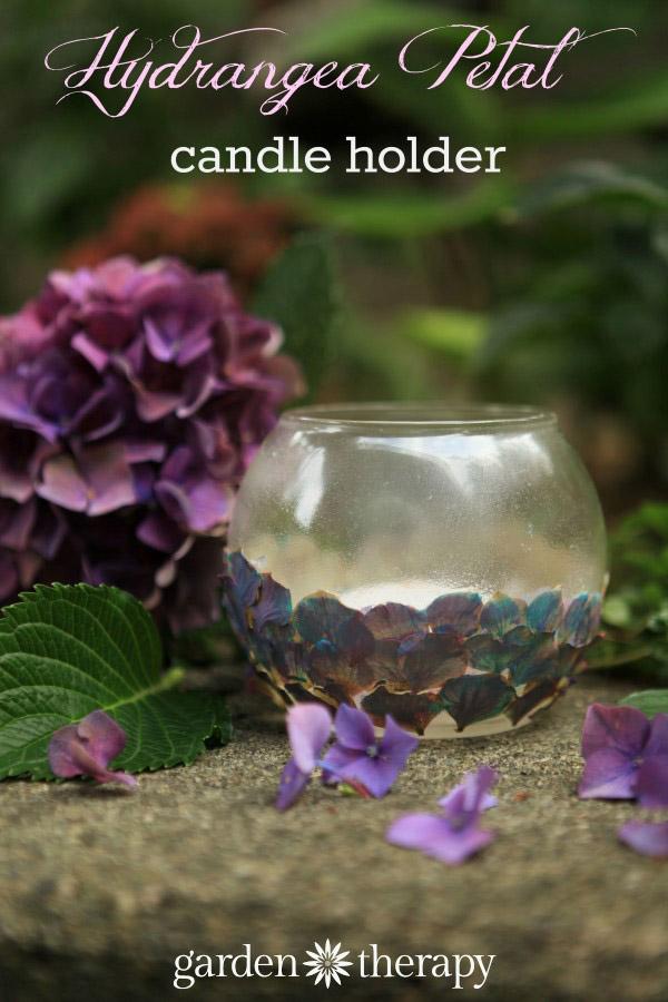 Hydrangea Petal Tealight Holder craft project