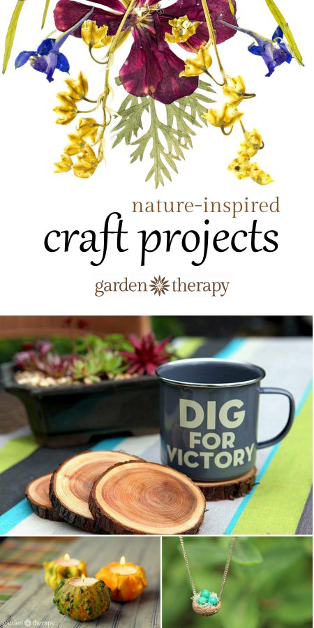 I love this collection of easy nature-inspired craft projects!