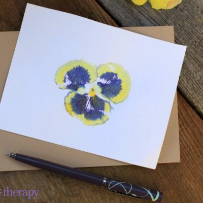 Hammered Flower-Print Cards