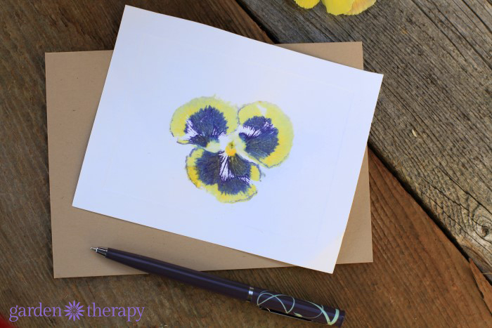 Make These Hammered Flower Print Cards