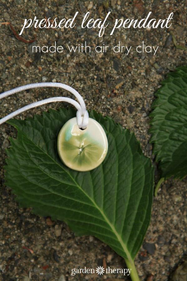 pressed leaf pendant DIY