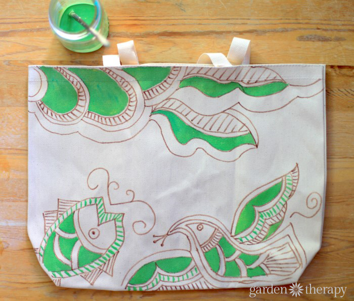 Hand Painted Market Bag Tutorial 4