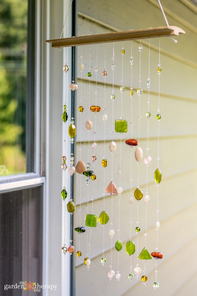 Hang a DIY beaded suncatcher outdoors
