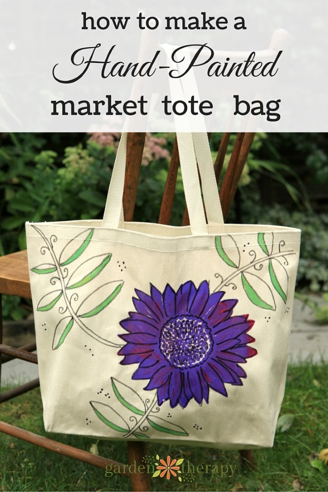Make this! Hand Painted Market Bag Tutorial