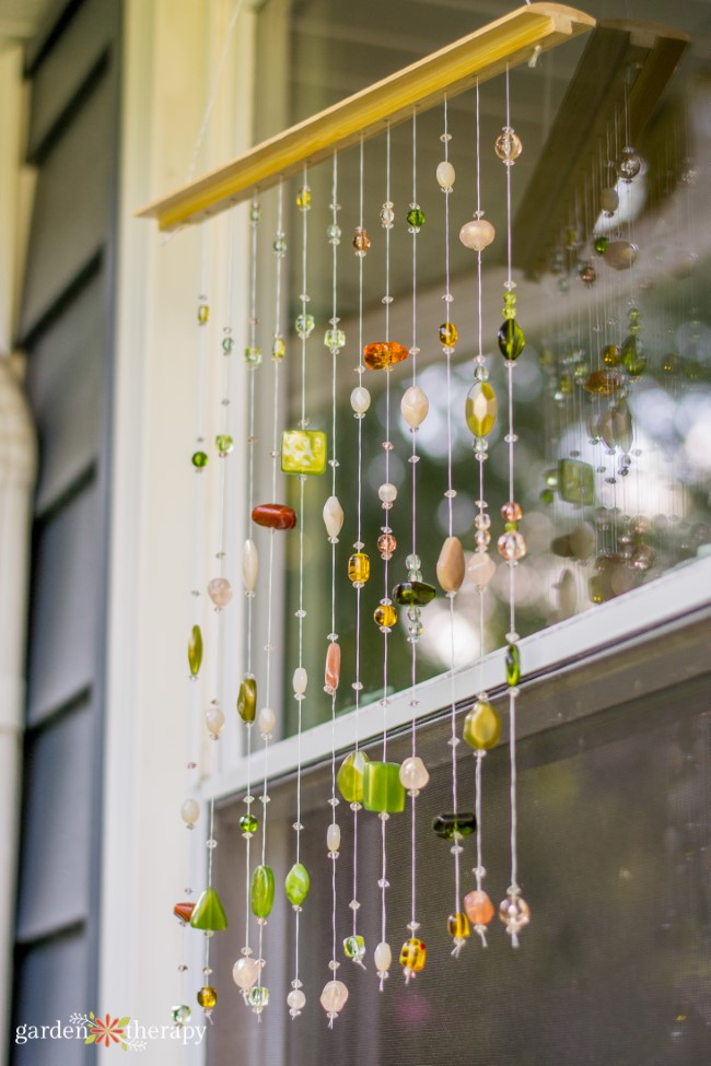 Place the beaded suncatcher in front of a window to protect birds