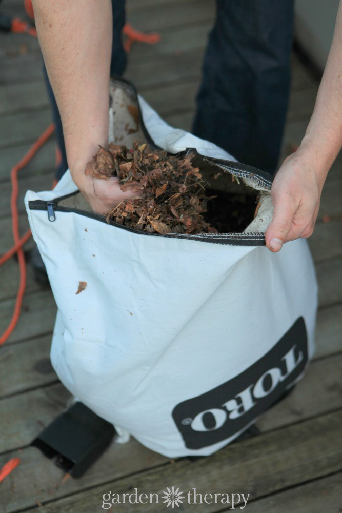 The easy way to mulch leaves