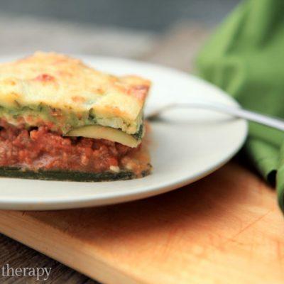 Low-Carb & Gluten-Free Zucchini Noodle Lasagna