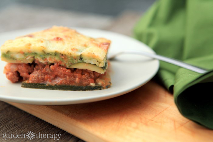Low Carb Lasagna Made With Zucchini Noodles