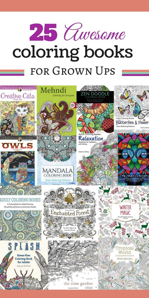 25 Awesome Adult Coloring Books