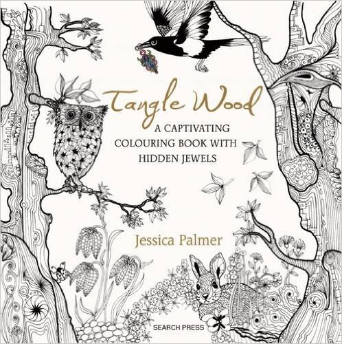 Tangle Wood Coloring Book plus a free coloring page to print