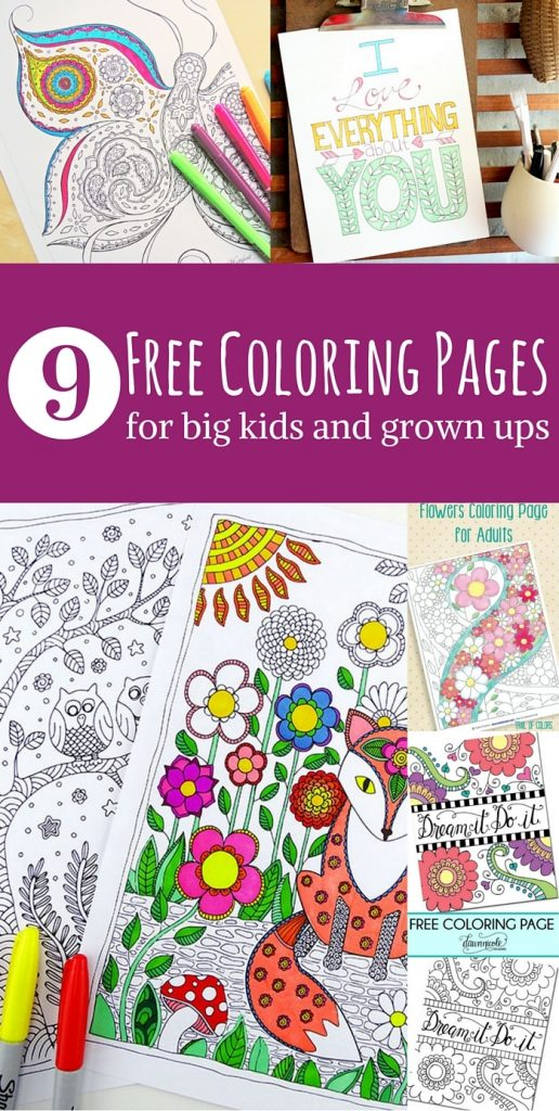 Free Adult Coloring Page Roundup