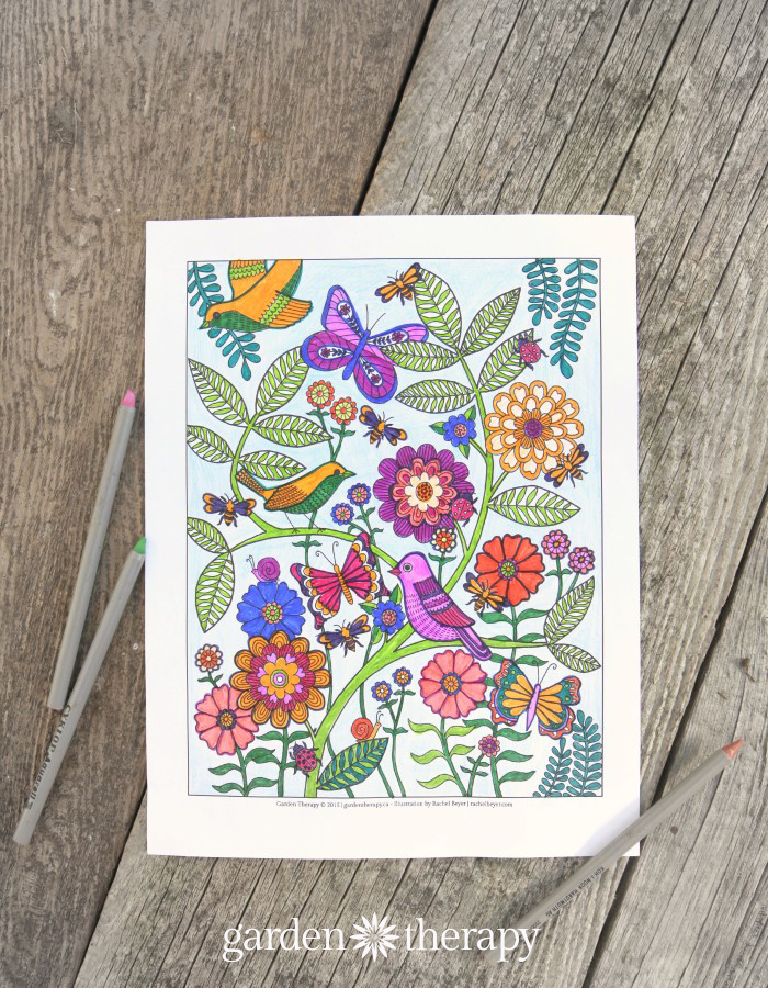 Coloring is So Fun! Download Life's a Garden free coloring page