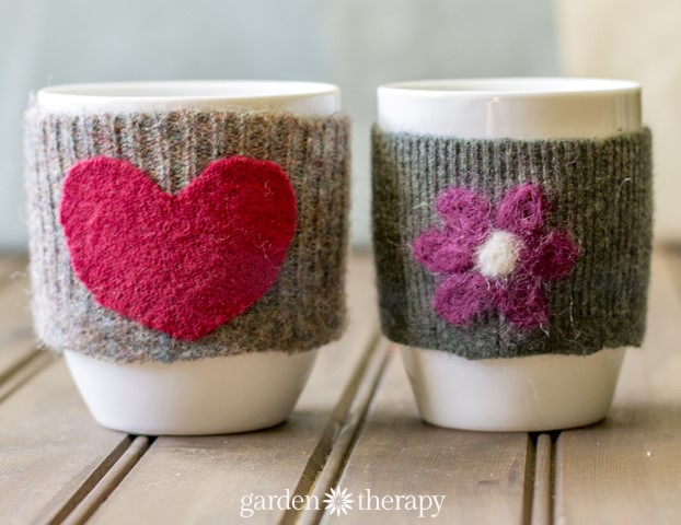 Cup Cozy With Appliques