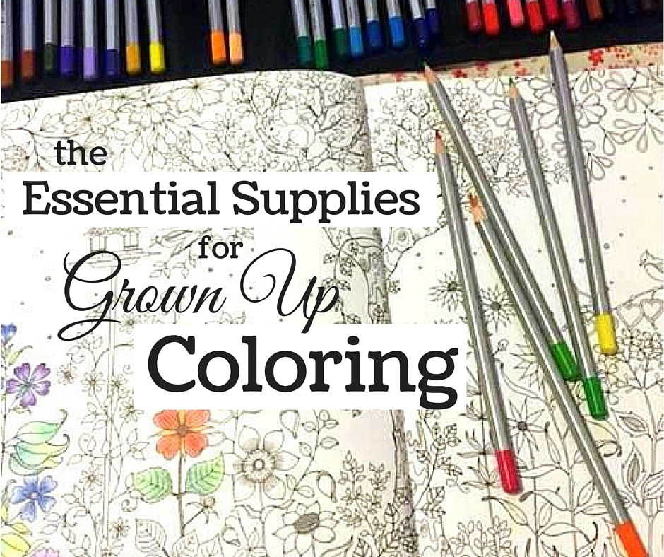 Get stocked up with the right tools and you'll be coloring your way to a peaceful bliss in no time!