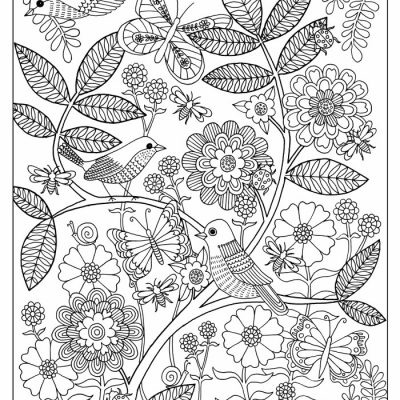 Life's a Garden FREE Adult Coloring Page
