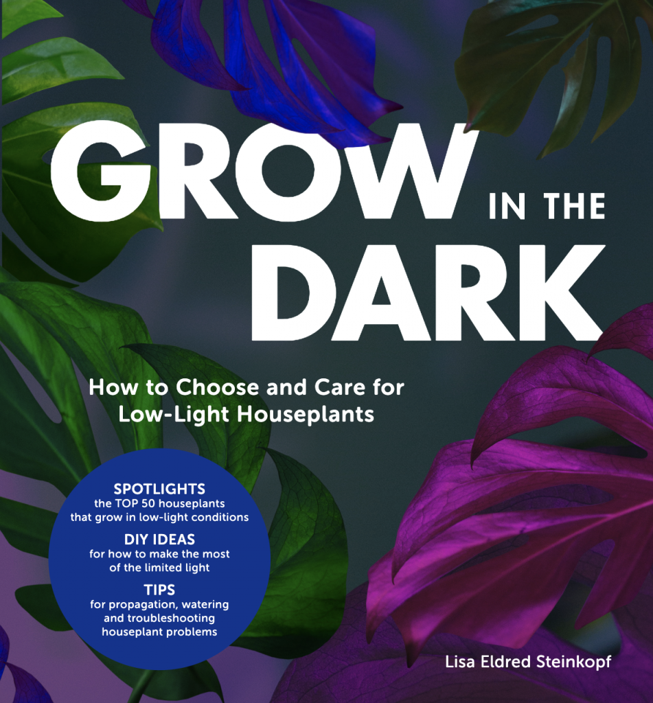 Grow in the dark - cover of a book about low light plant care