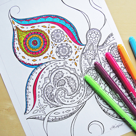 Free adult coloring page roundup Good coloring books for adults