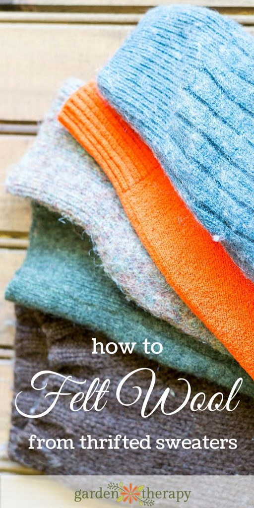 How to Felt Wool using Thrifted Sweaters