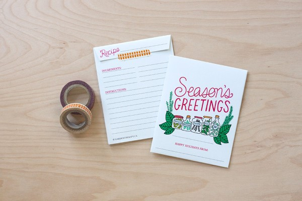 How to Make Holiday Herb Packets Free Printable Step (3)