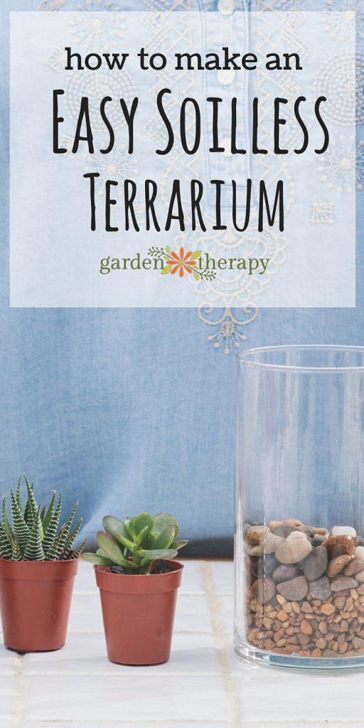 How to make an easy soiless terrarium garden