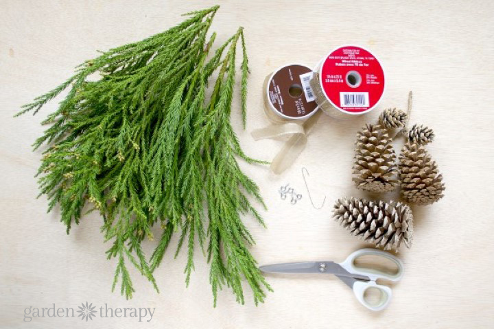 Pinecone swag - Supplies