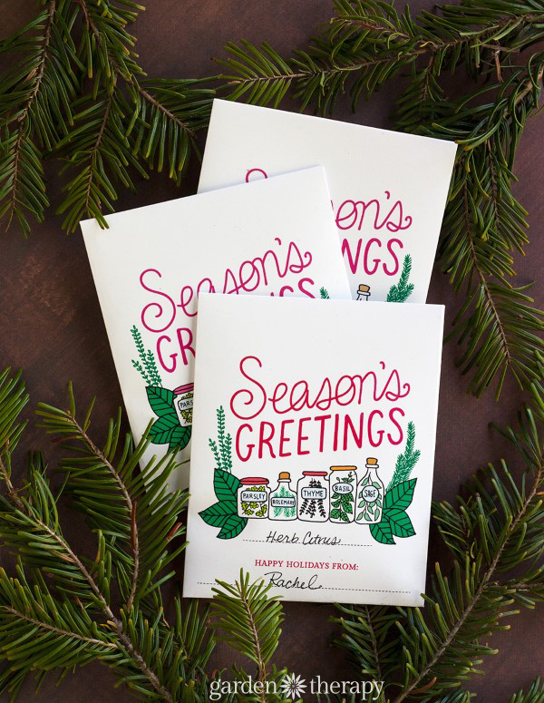 Seasons Greetings Printable Herb Packet and Recipe Ideas