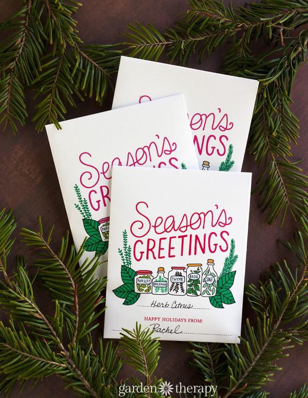 Seasons Greetings Printable Herb Packet and Recipe Ideas