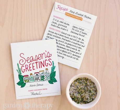 Seasons Greetings Printable Herb Packet And Recipe