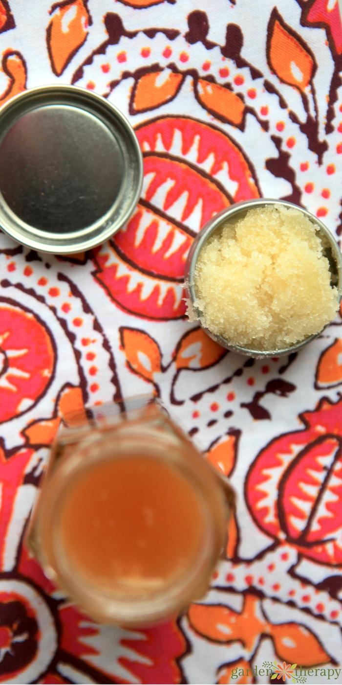 healing lip scrub recipe with manuka honey