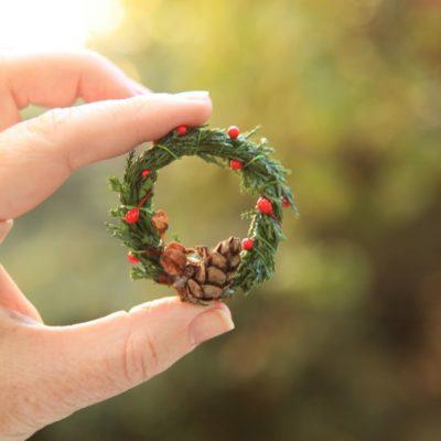 Miniature Evergreen Wreath Ornaments