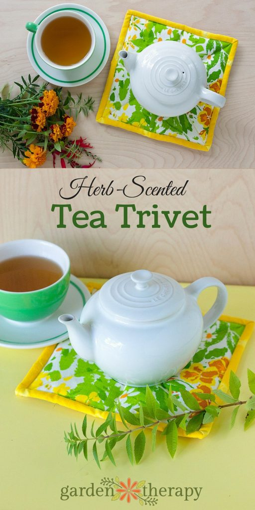 How to make this herb scented tea trivet that warms and releases fresh scented herbs like cinnamon, mint, or lavender!
