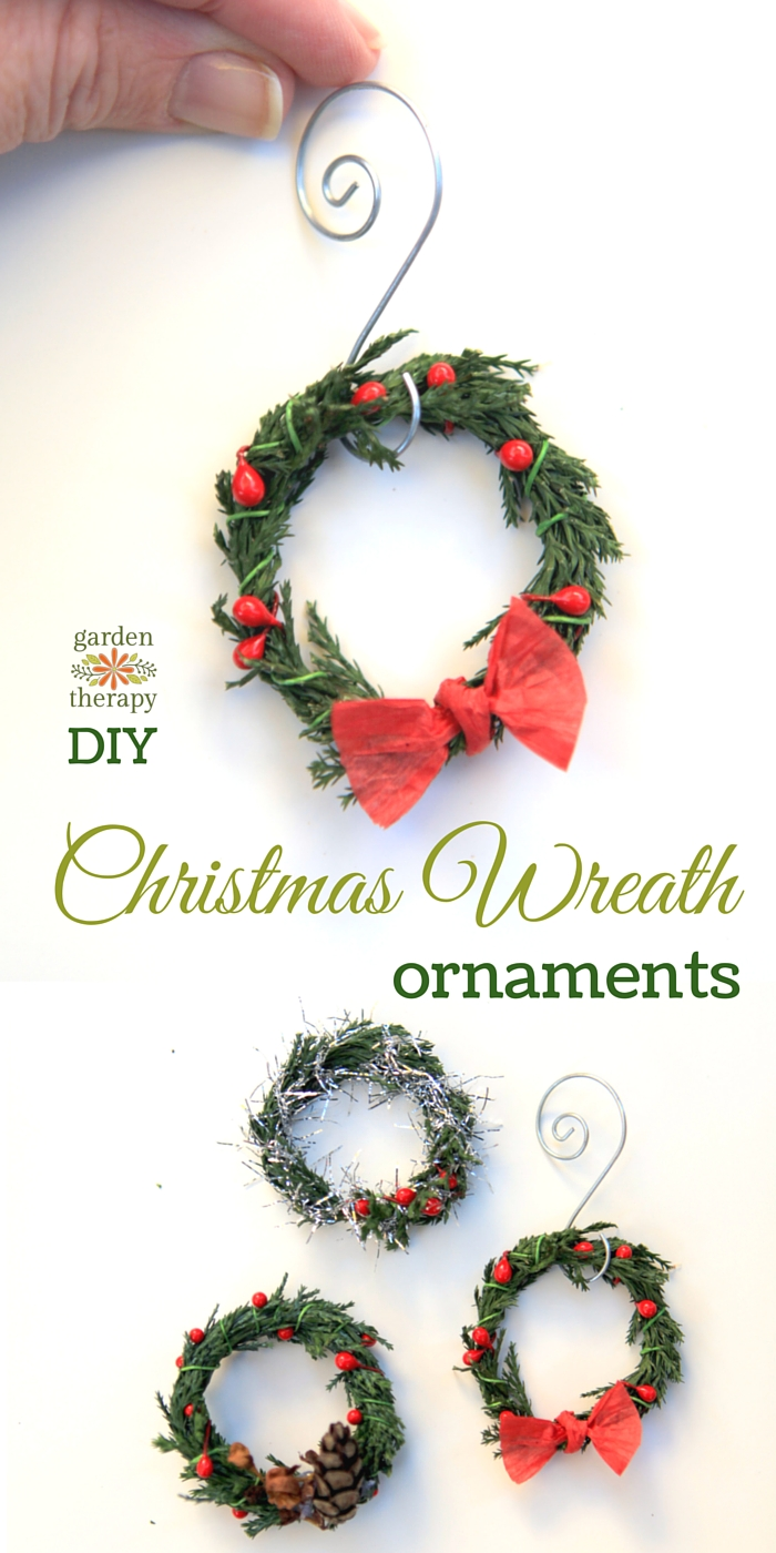 How to Make these adorable miniature wreath ornaments