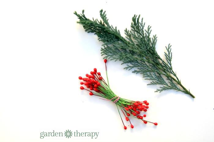 Miniature wreath materials