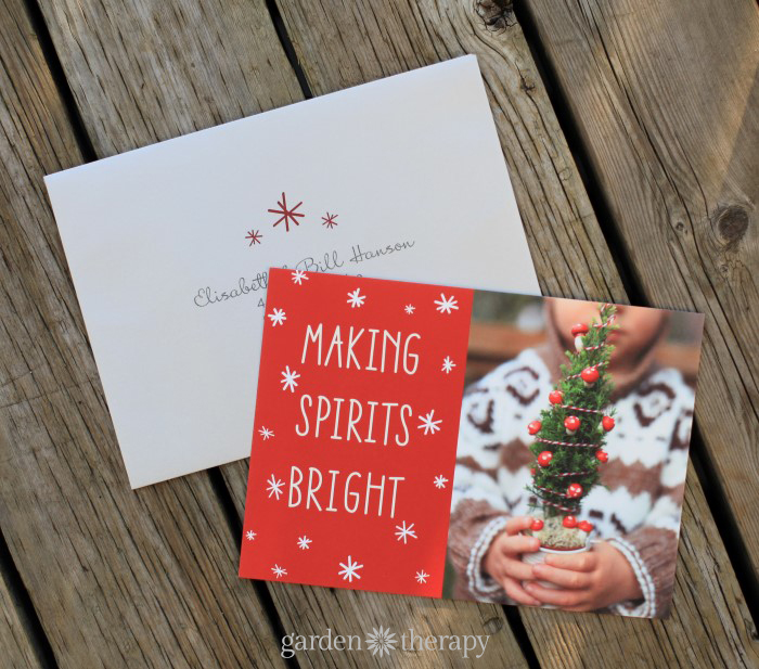 Minted Holiday Photo Cards Garden Therapy