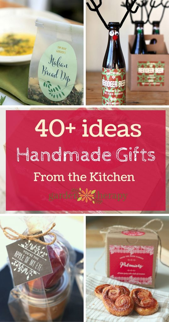 More than 40 ideas for Homemade Gifts from the Kitchen!