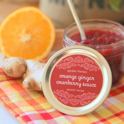 Orange Ginger Cranberry Sauce Recipe