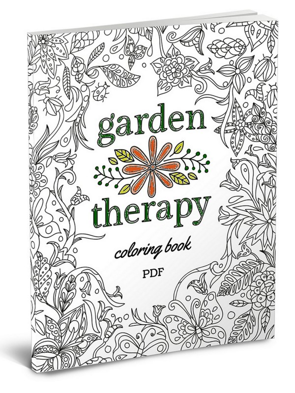 The Garden Therapy Coloring Book: Color Like a Grown-Up!