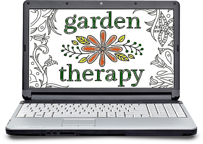 the-garden-therapy-coloring-book-on-laptop