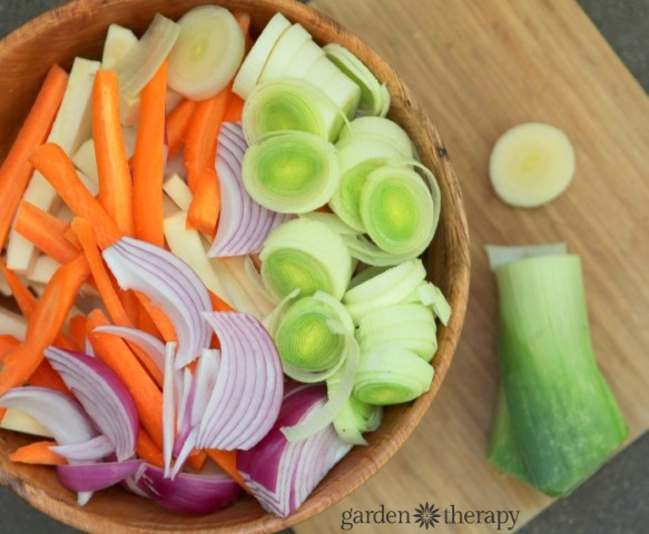 Fresh Cut Root Vegetables for Roasting
