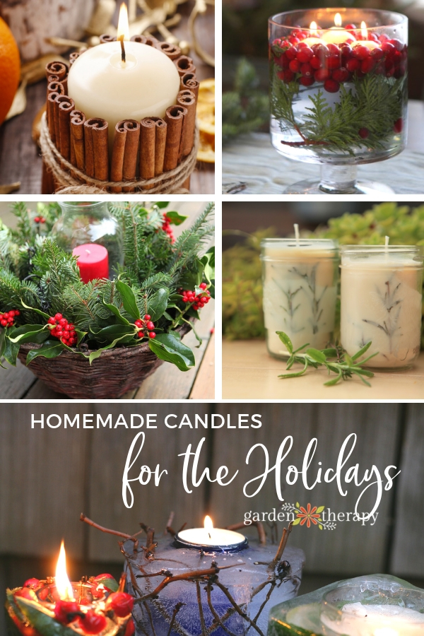 Homemade Candles for the Holidays