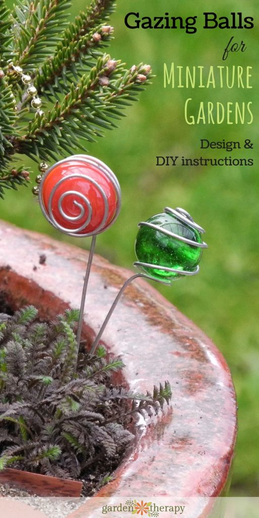 How to Make Glass Gazing Balls for Miniature Gardens
