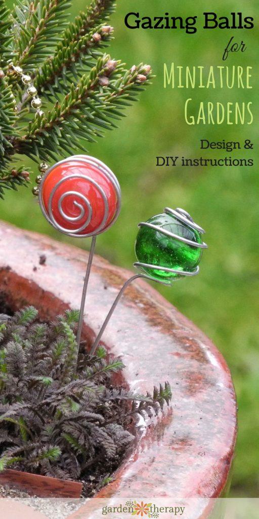 How to Make Glass Gazing Balls for Miniature Gardens