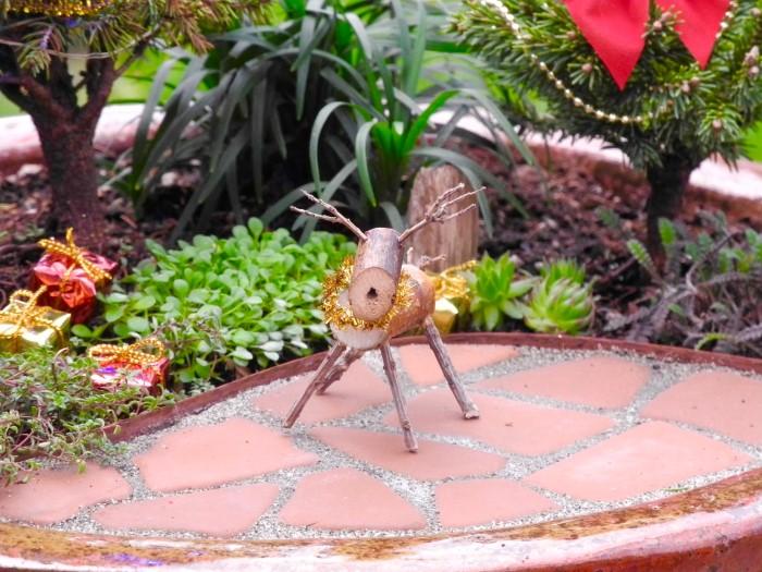 Miniature Garden Reindeer