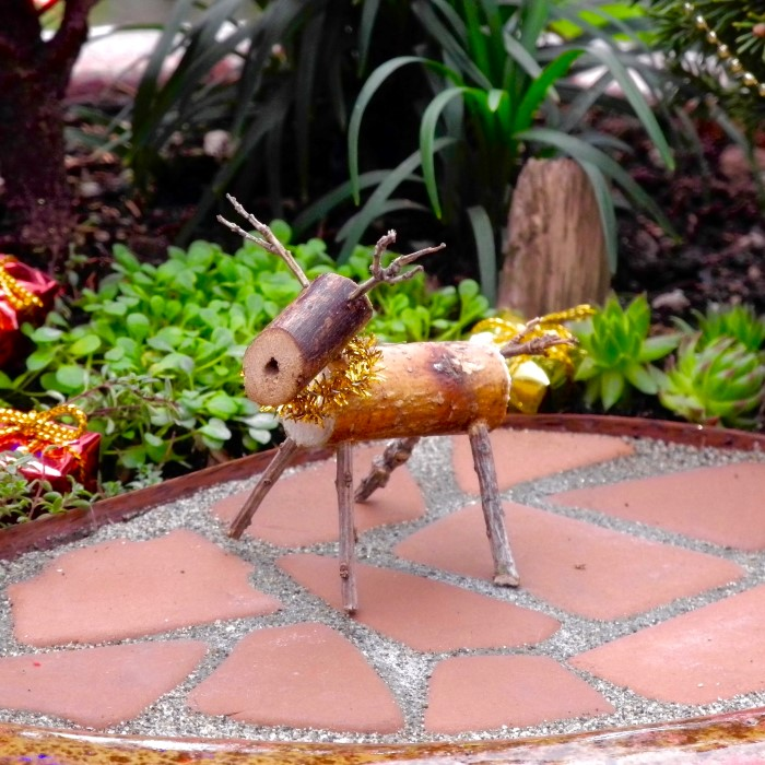 miniature reindeer for a miniature garden