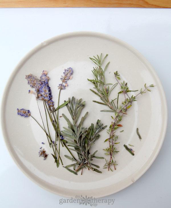 Pressed herbs