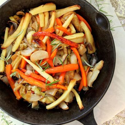Roasted Root Vegetables with Rosemary & Honey