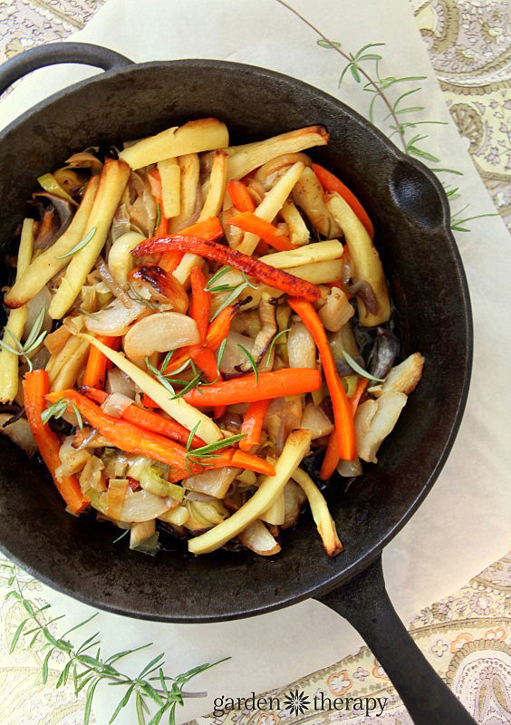 Roasted Root Vegetables With Rosemary And Honey